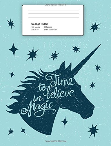 College Ruled: Blank Lined Composition Book Gift For Unicorn Lovers. Perfect for Taking Class Notes or Inspirational Writing. pdf epub