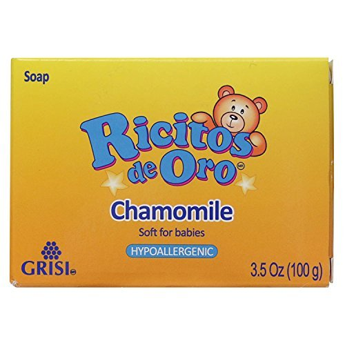 Manzanilla Ricitos de Oro Hand Soap | Hypoallergenic Bar Soap for Baby, Chamomile Moisturizing Bath Soap; 3.5 Ounces Atlas Ethnic