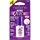 Nailene Ultra Quick Pink Brush-On Glue Nails, 17.009g