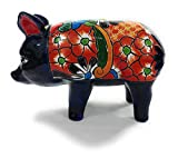 Ceramic Pig (Hog)- Authentic Mexican Pottery for Indoor and Outdoor Decor