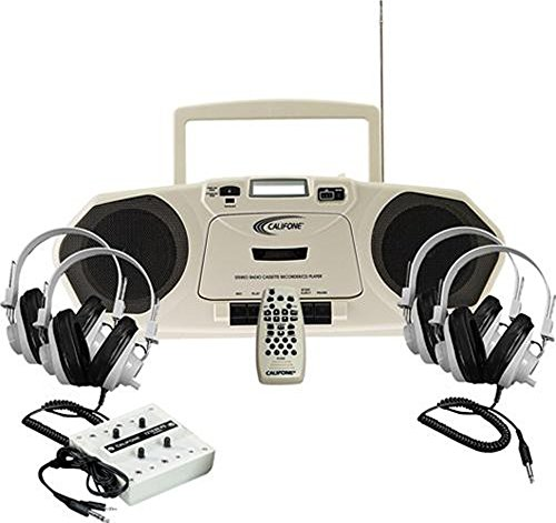 2924avps Stereo Califone - Califone 2385PLC 4-Position Music Maker Stereo Learning Center, Includes: Music Maker Multimedia Player/Recorder, Four 2924AVPS Stereo Headphones and 1210AVPS Stereo Jackbox