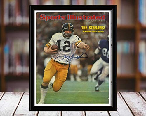 Bradshaw Autographs - Terry Bradshaw Sports Illustrated Autograph Replica Print - Super! - 1/20/75-5x7 Desktop Framed Print
