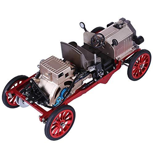 HMANE Engine Model Kit Vintage Classic Car, Metal Single Sylinder Mechanical Engine Model for Adults, DIY Assembly Engine Model Toys Collection Gift