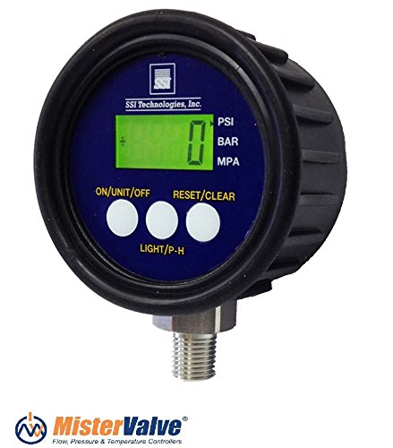 SSI Technologies MG1 9V Digital Pressure Gauge 0-5 PSI to 0-5000 PSI (Range 0- 5000 PSI) from SSI Technologies