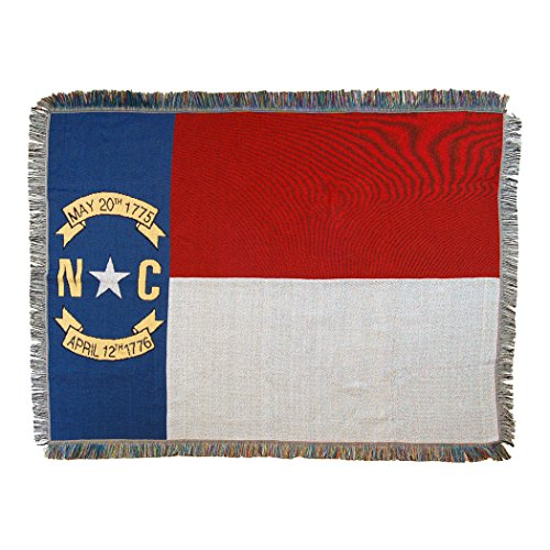 The Northwest Company North Carolina State Flag Woven Tapestry Throw Blanket, 48