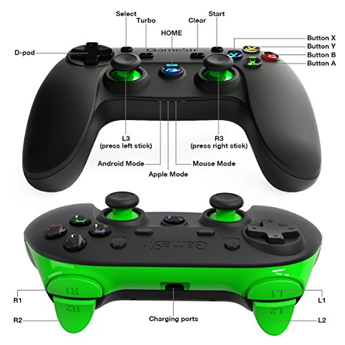 51jCNDzoRvL - GameSir G3s 2.4GHz Wireless Bluetooth Gamepad Controller for Android TV BOX Smartphone Tablet PC (Green)