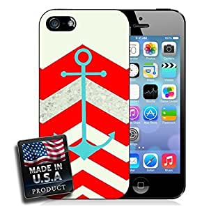 Colorful Red Chevron Anchor For Iphone 6 Plus Phone Case Cover Hard Case