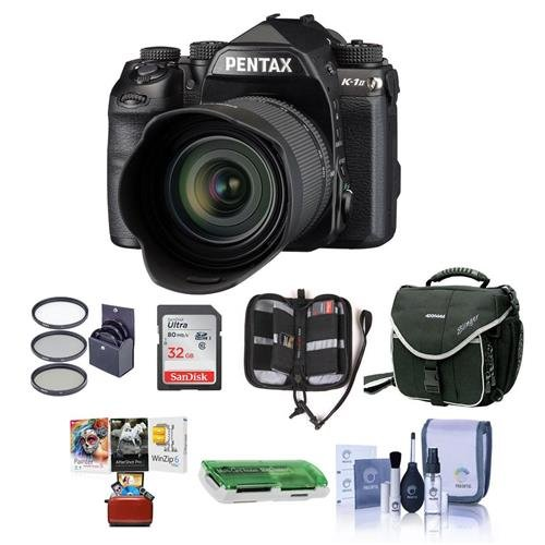 (Pentax K-1 Mark II Digital SLR with HD D FA L 28-105mm F3.5/5.6 ED Lens - Bundle with 32GB SDHC Card, Camera Case, 62mm Filter Kit, Cleaning Kit, Memory Wallet, Card Reader, Mac Software Pack)
