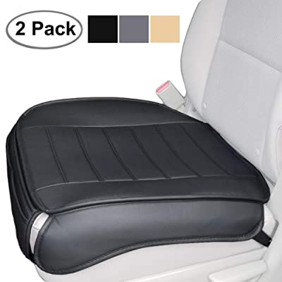 Big Ant Edge Wrapping 2pc Car Front Seat Cushion Cover Pad Mat for Auto Supplies Office Chair with PU Leather(Black): Home & Kitchen [5Bkhe0906219]
