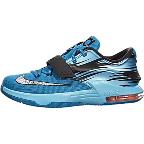 Nike KD VII GS Clearwater Light Blue Lacquer White Total Orange 669942-414  US 7