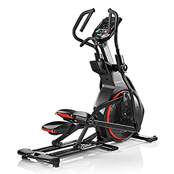Bowflex-Bicicleta elíptica semiprofesional BXE226- Color Negro y Rojo- Fitness Apps Bluetooth 4.0-25 Niveles de resistancia-Inclinación de los ...