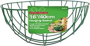 "SupaGarden Hanging Baskets 40cm/16"" Green"