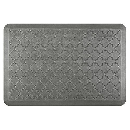 WellnessMats Estates Collection Essential Series Silver Leaf Trellis 3 x 2 Foot Anti-Fatigue Mat