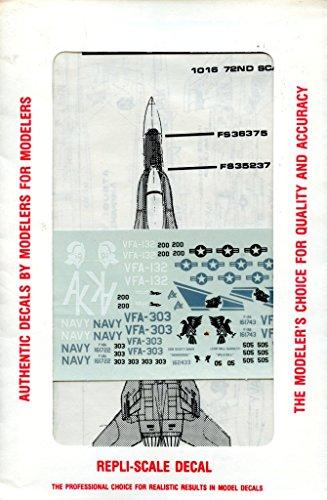Repli Scale Decals 1:72 F-18 Hornet/Reserve Hornet VFA-132 Atsugi NAS #72-1016