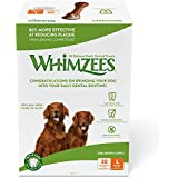 Whimzees 30 Day Pack Dog Dental Treats, Large Brushzees, Pack Of 30