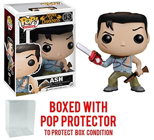 Funko Pop! Movies: Evil Dead - Army of Darkness Ash Vinyl Figure (Bundled with Pop Box Protector Case) -