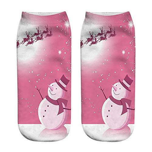 (Merry Christmas - Women Men Socks Franterd Unisex Christmas 3D Funny Crazy Amazing Ugly Novelty Low Cut Ankle)