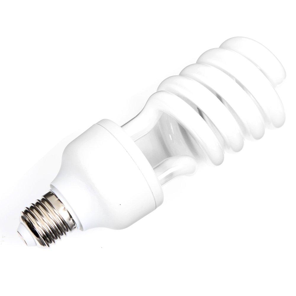 Fotga E27 45W 220V é conomiser l'é nergie CFL Lumineuse 5500K Lumiè re du jour Ampoule spirale Lampe pour la photographie AE415