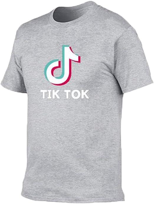 HGA TIK Tok Camiseta Corta Estampada Mangas Cortas Camiseta Crop Top Cuello Redondo Tops Casual,GreyA-M: Amazon.es: Hogar