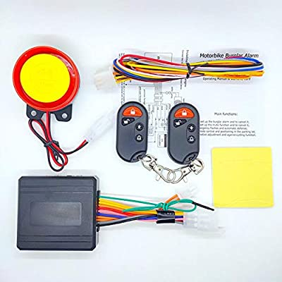 Auveach 12V Motorcycle Bike Alarm System Anti-theft Security Remote