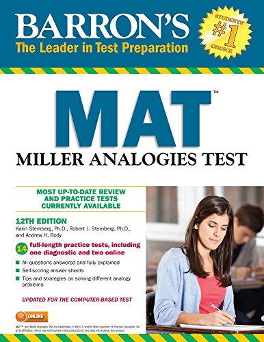 Pdf Test Preparation Barron's MAT: Miller Analogies Test