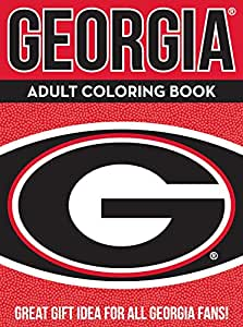 NCAA Georgia Bulldogs Unisex Adult Coloring Bookncaa Adult Coloring Book, Red, 96 Coloring Pages