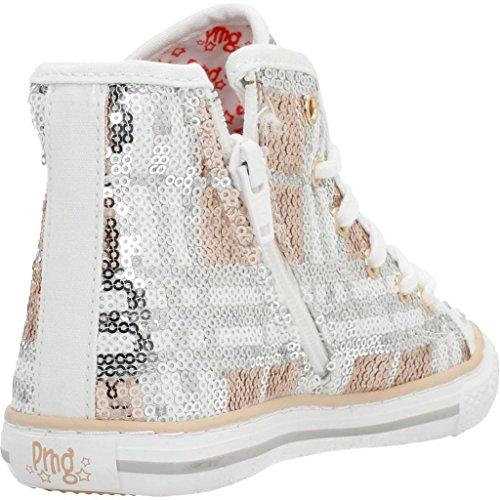 PRIMIGI Zapatillas para ni�a, color Plateado, marca, modelo Zapatillas Para Niï HIGH LUX Plateado