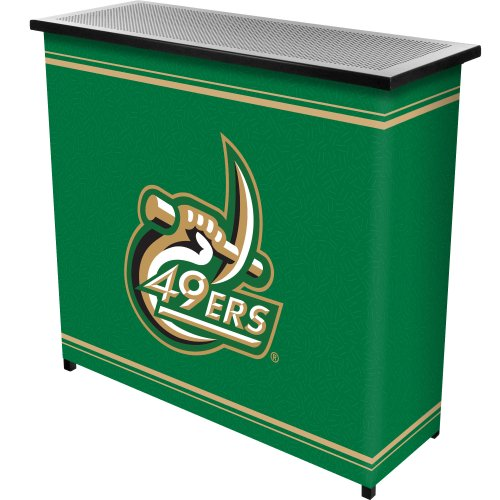 NCAA University of North Carolina Charlotte Two Shelf Portable Bar with Case (Bar Charlotte 1)