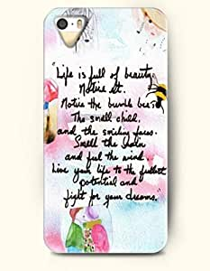diy zhengiphone 5/5s Case OOFIT Phone Hard Case **NEW** Case with Design Life Is Full Of Beauty, Notice It Notice The Bumble Bee The Small Child,And The Smiling Faces Small- Proverbs Of Life - Case for Apple iphone 5/5s//
