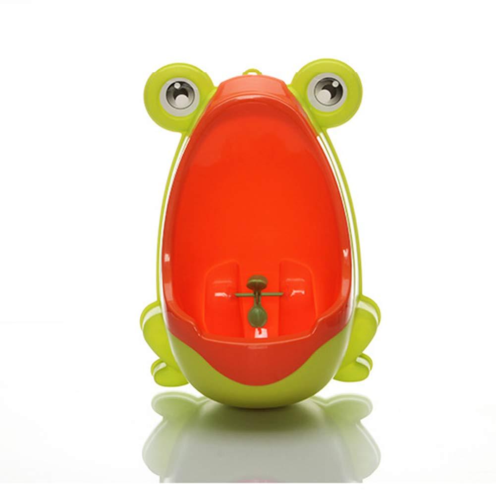 1 St/ück Baby Toilettentraining f/ür Kinder Wandmontage Blau vertikales Urinal mit Froschmotiv