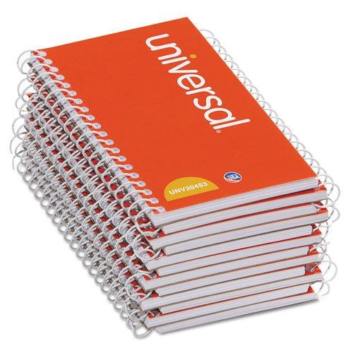 Universal® 5''x3'' Wirebound 50 Sheet Narrow Rule Memo Books, Model 20453 - 12 Pads/Pack