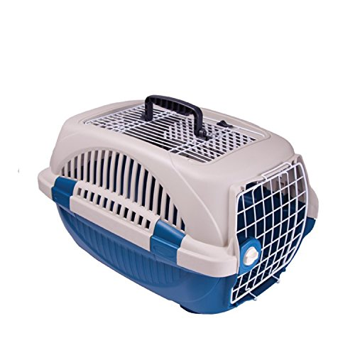 Choco Nose H315 19.8-inch, Durable Two Doors Top Load Pet Travel Kennel, Carrier, Crate for Pets Under 12 Lb, Mini to Small-sized Dog, Cat, Rabbit, Chinchilla (Blue)