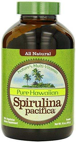 Pure Hawaiian Spirulina Powder 16 oz - Boosts Energy and Supports Immunity - Vegan, Non GMO - Natural Superfood Grown in Hawaii