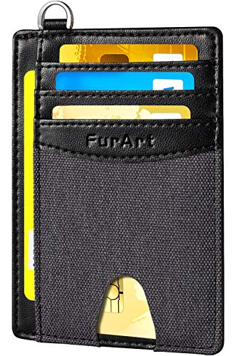 - FurArt Slim Minimalist Wallet, Front Pocket Wallets, RFID Blocking, Credit Card Holder with Disassembly D-Shackle