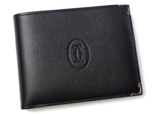 CARTIER L3000595  カボションライン 二つ折小銭入れ付き財布 ブラック(並行輸入) B00CIO5C4A