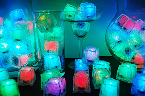 Set of 72 Litecubes Brand 8 Mode MultiColor RAINBOW Light up LED Ice Cubes by LiteCubes