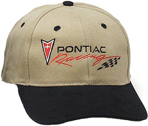 Pontiac Racing Classic Fine Embroidered Hat Cap, Khaki/Black - Pontiac Racing