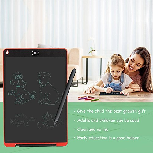 8.5 inch Smart Writing Pad, Teetox Liquid Crystal Drawing Board Children's Learning Board Electronic Graffiti Board, The For Children (Red) by Teetox (Image #5)