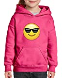 Xekia Emoji with Sunglasses Hoodie For Girls and Boys Youth Kids Medium Azalea Pink