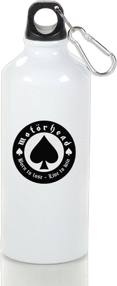 VOLTE Motörhead British Heavy Metal Rock Band Poker Aluminum Outdoor Sports Bottle Perfect for Tour