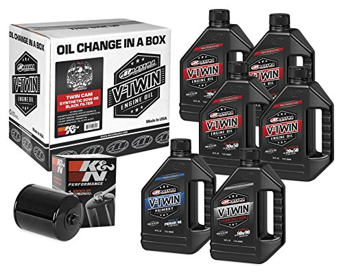 Maxima Racing Oils 90-119016B Twin Cam Synthetic 20W-50 Black Filter Complete Oil Change Kit 192. Fluid_Ounces