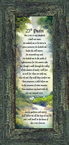 Frames of Mind 23rd Psalm, Bible verse from Psalm, 6x12 7731BW ()