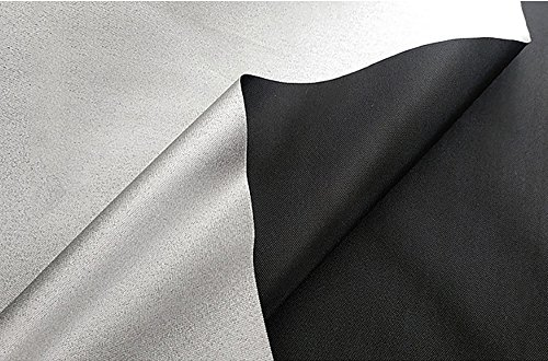 - Focux Shade Cloth Fabric Black and Silver 95% Blackout UV Protect Shading Light Waterproof Sunshade Cloth Light Weight (1 Yard)