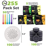 Hookah Accessories Set with 100 Charcoal Coal