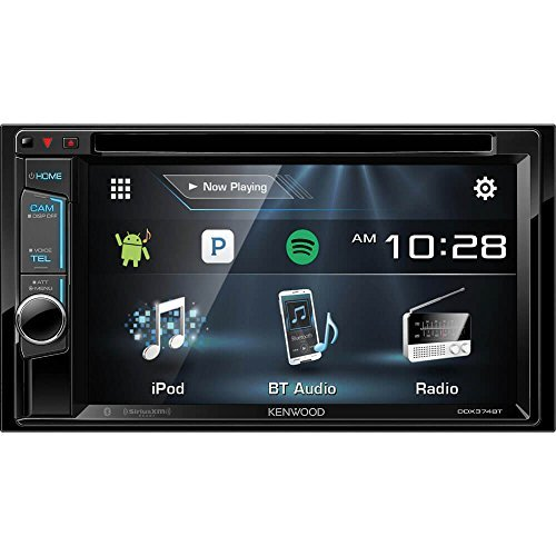 Kenwood DDX374BT 2-DIN Bluetooth in-Dash CD/DVD/DM Receiver with 6.2