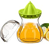 SELEWARE Premium Tritan Plastic Lemon Lime Squeezer, Manual Citrus Press Juicer Container Set with Lid, BPA-Free, Freezer, Dishwasher Safe (21oz,Green) Review