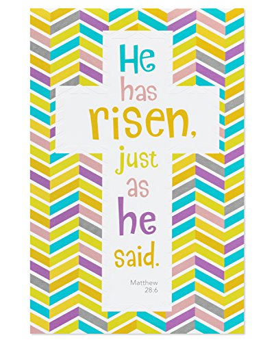 American Greetings Religious Risen Easter Card, 6-Count with Embossing ()