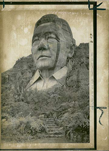 Vintage photo of Bust of President of the Philippines Ferdinand Marcos