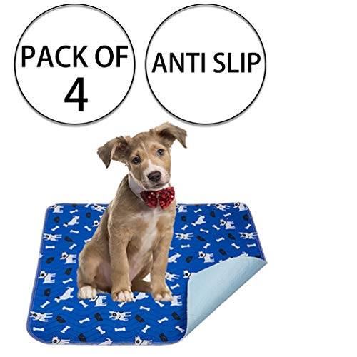 - Yangbaga Washable Pee Pads for Dogs, 4 PCS Non Slip Puppy Pads, 16x23.6in Whelping Pads with Great Urine Absorption, Odor Control Training Pads