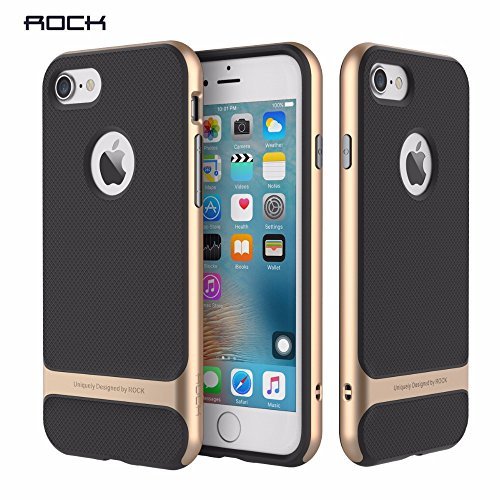 Rock Royce Series Shockproof Dual Layer Back Cover For Apple Iphone 7 Plus [5.5 ]   Gold